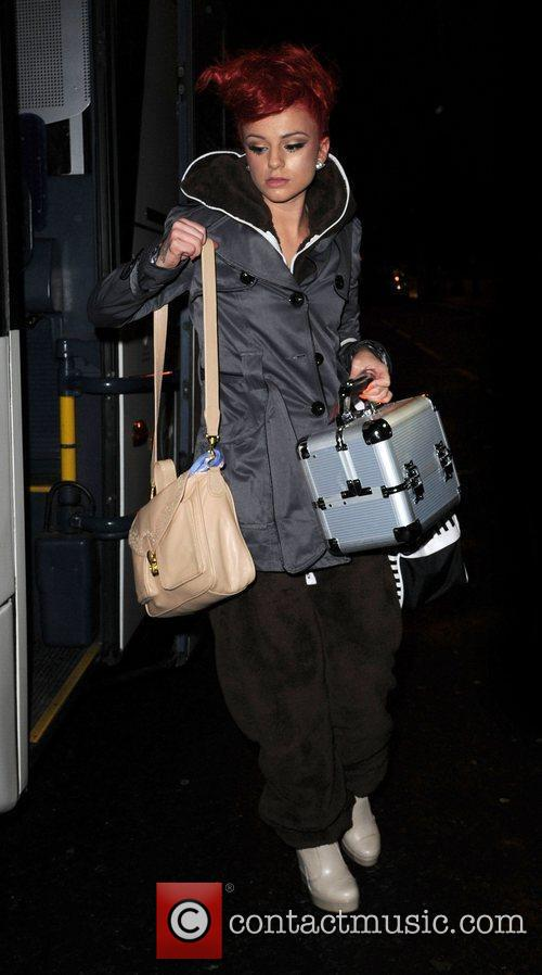 Cher Lloyd arrives at her Manchester Hotel,