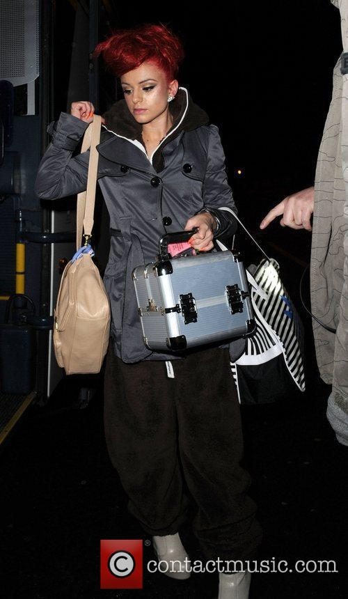 Cher Lloyd arrives at her Manchester Hotel,...