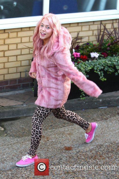 Amelia Lily 'The X Factor' finalists arrive at...
