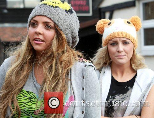 Jesy Edwards and Perrie Edwards of Little Mix...