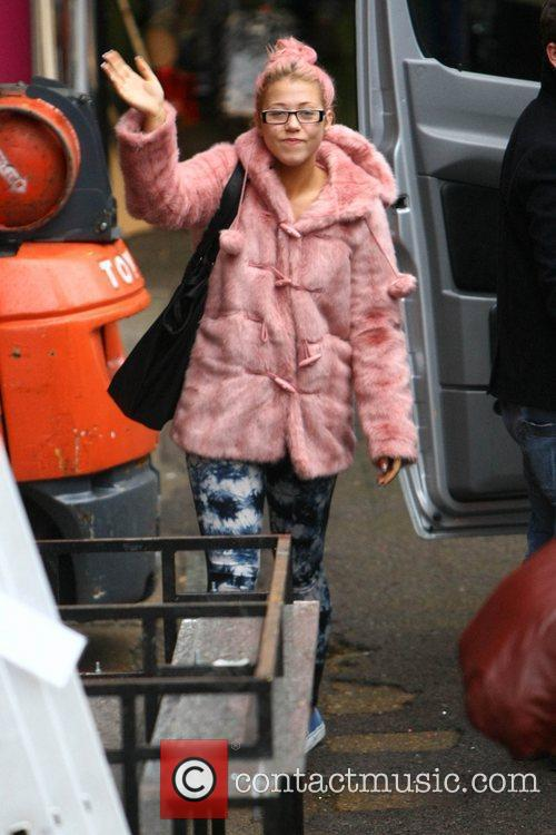 Amelia Lily arrives at 'The X Factor' studios...