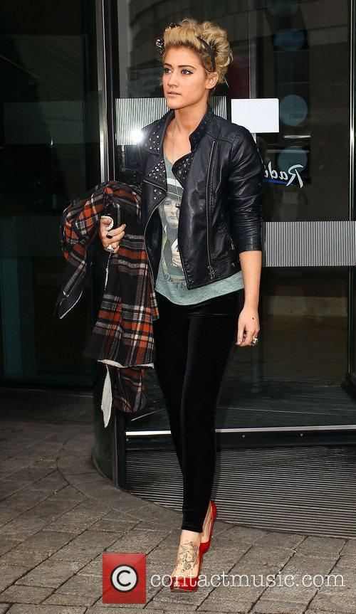Katie Waissel The X Factor finalists leaving their...