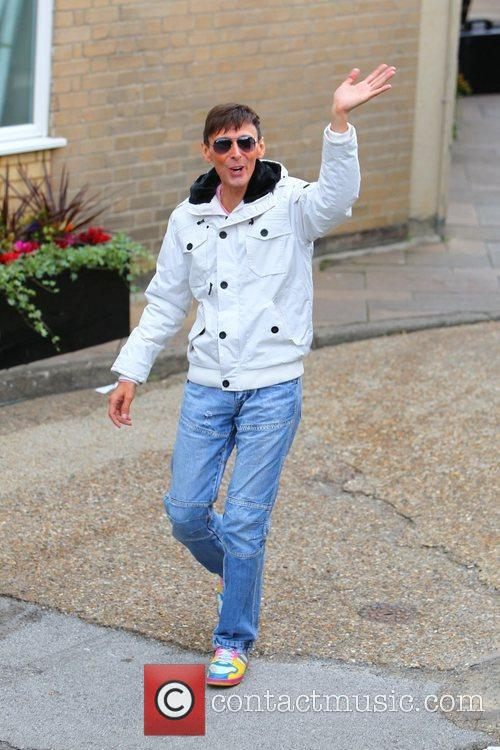 'X Factor' finalist Johnny Robinson arrives at the...