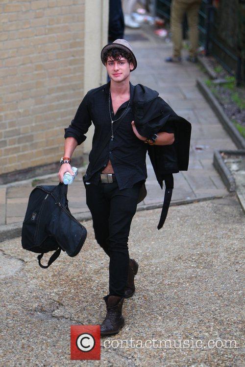'X Factor' finalist James Michael arrives at the...