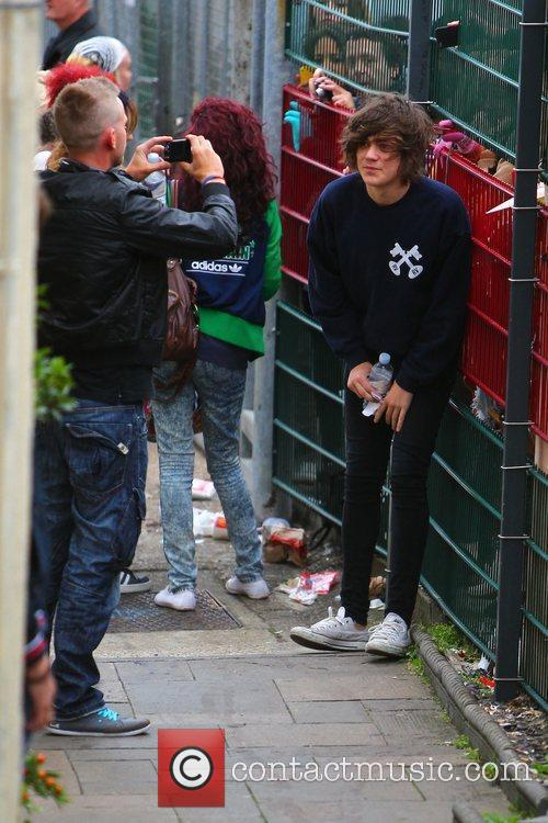 'X Factor' finalist Frankie Cocozza arrives at the...