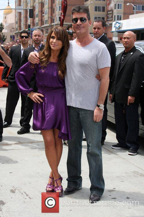 Paula Abdul and Simon Cowell at the 'The...