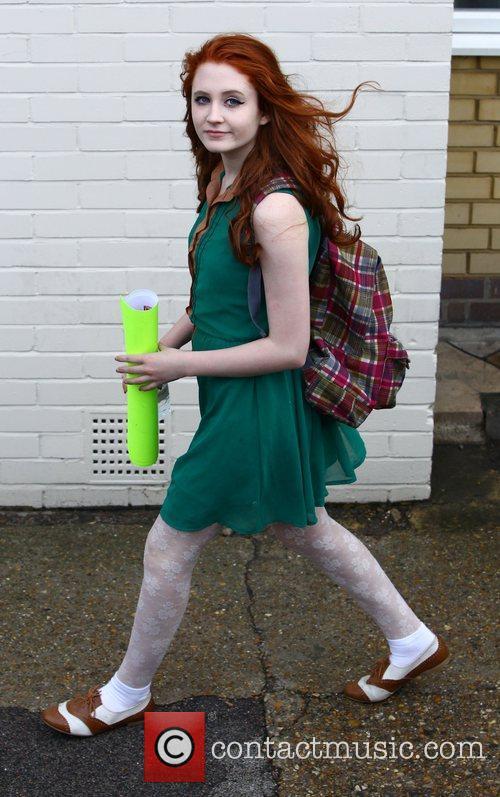 'X Factor' finalist Janet Devlin arrives at the...