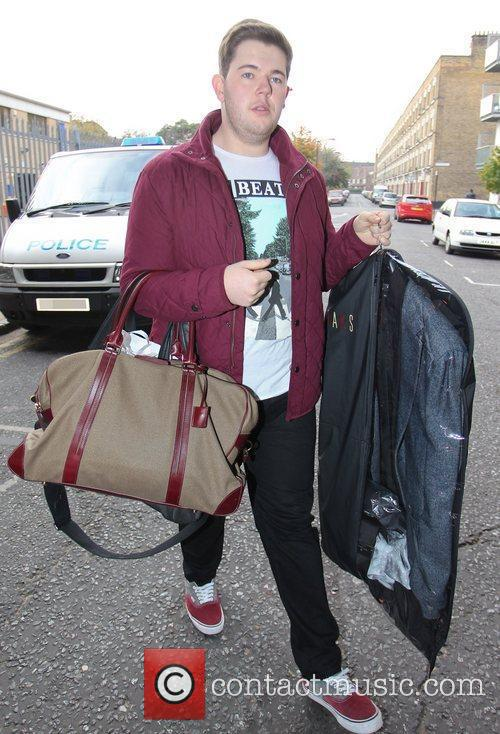X Factor finalist Craig Colton arriving at rehearsals...