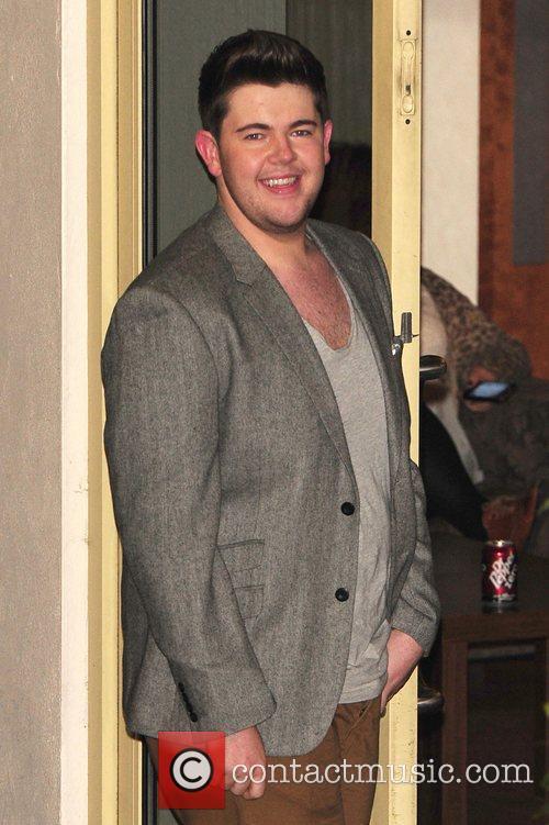 Craig Colton leaving X Factor Fountain Studios London,...