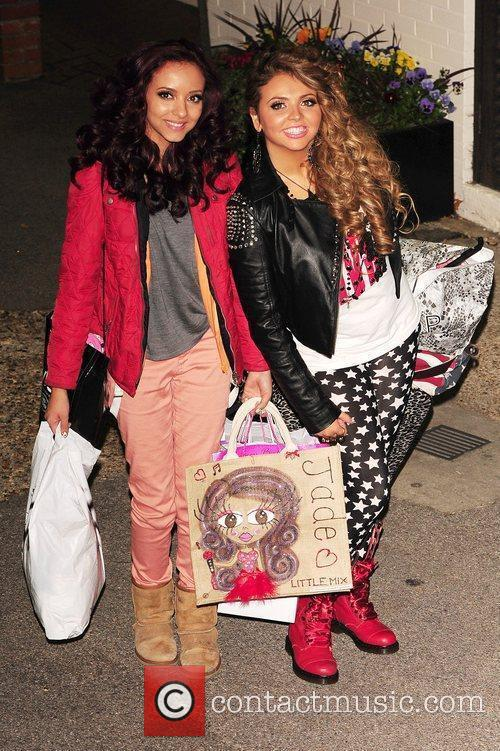 Jade Thirlwall and Jesy Nelson of Little Mix...