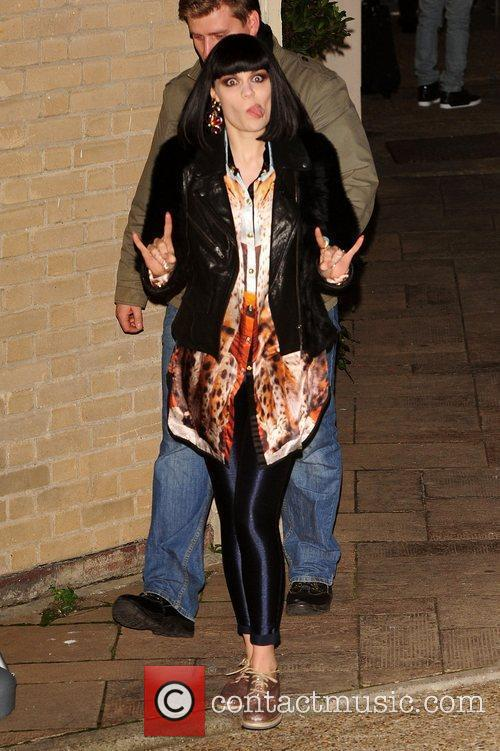 Jessie J leaving X Factor Fountain Studios London,...