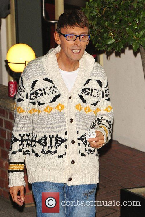 Johnny Robinson leaving X Factor Fountain Studios London,...