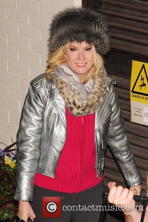 Kitty Brucknell leaving X Factor Fountain Studios London,...