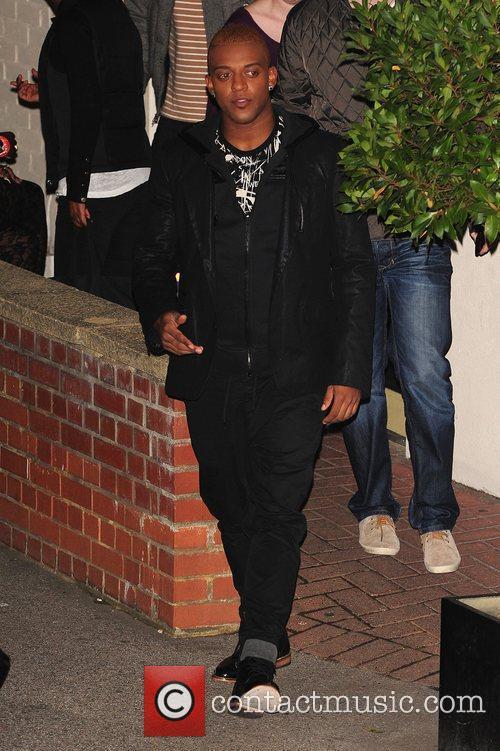 Oritse Williams of JLS leaving X Factor Fountain...