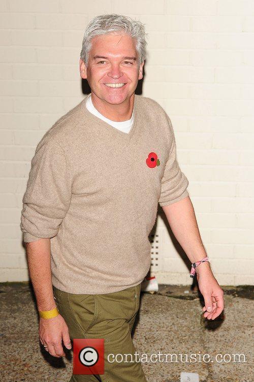 Phillip Shofield at X Factor Fountain Studios London,...