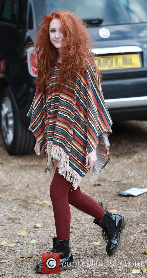 Janet Devlin at X Factor rehearsals England