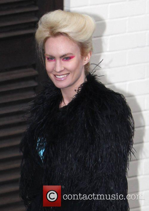 Kitty Brucknell arrives at 'The X Factor' studios...