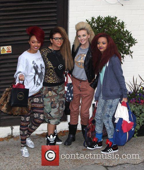 Little Mix arrive at 'The X Factor' studios...