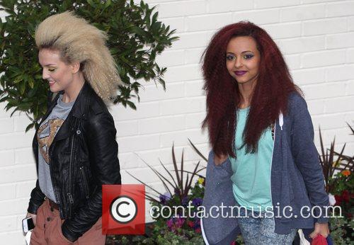 Perrie Edwards and Jade Thirwell of Little Mix...