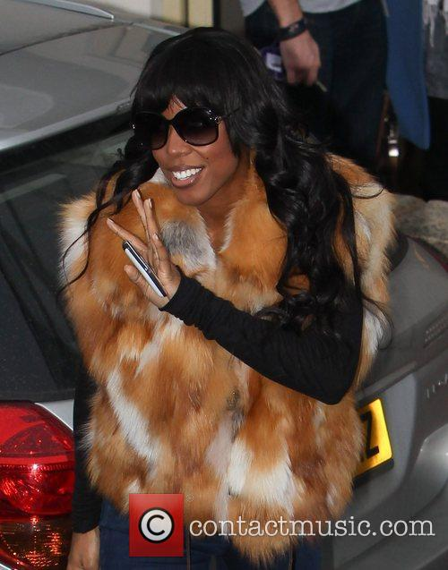 Kelly Rowland arrives at 'The X Factor' studios...