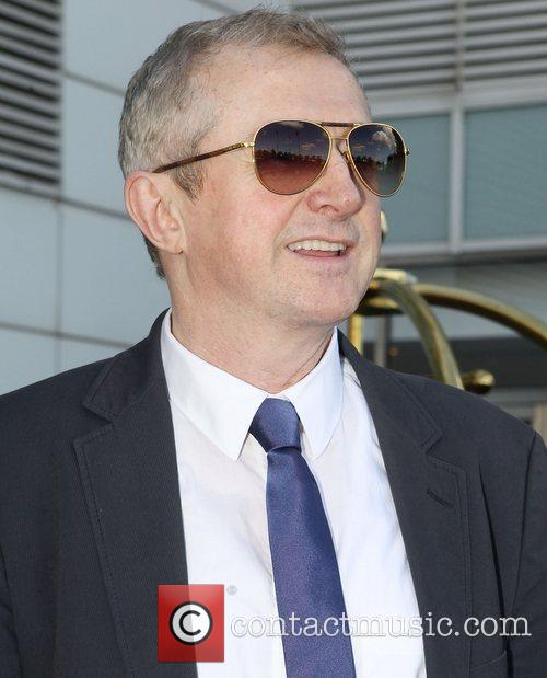 Louis Walsh Judges and presenters leave their hotel...