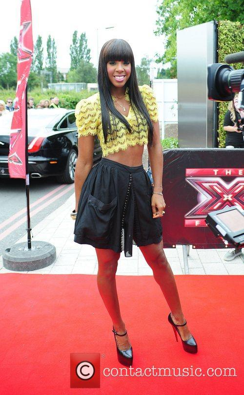 Kelly Rowland  judges arrive at the LG...