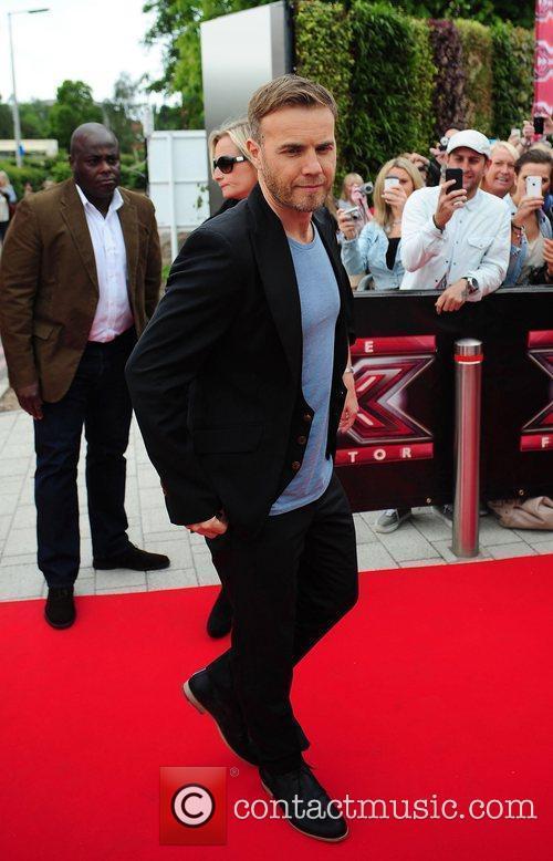 Gary Barlow judges arrive at the LG Arena...