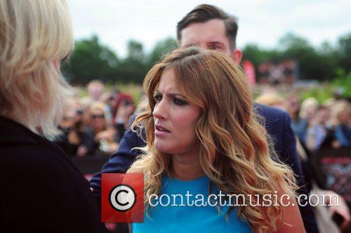 Caroline Flack arrives at the LG Arena Birmingham...