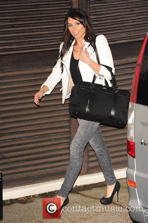 Christine Bleakley celebrities outside the X Factor Studios...