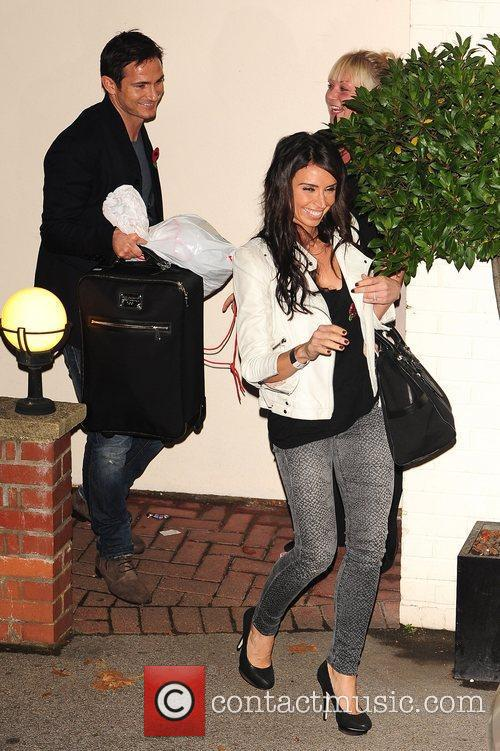Frank Lampard and Christine Bleakley celebrities outside the...