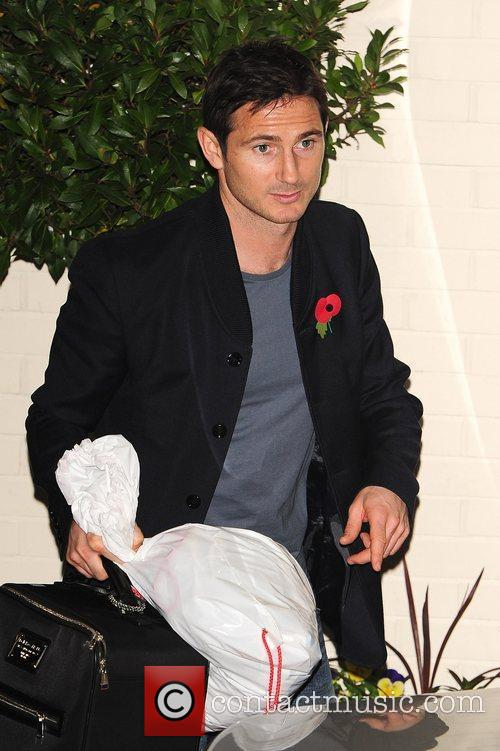 Frank Lampard  celebrities outside the X Factor...