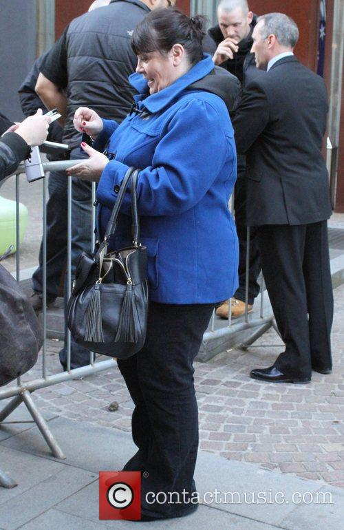 Mary Byrne outside the hotel where the performers...