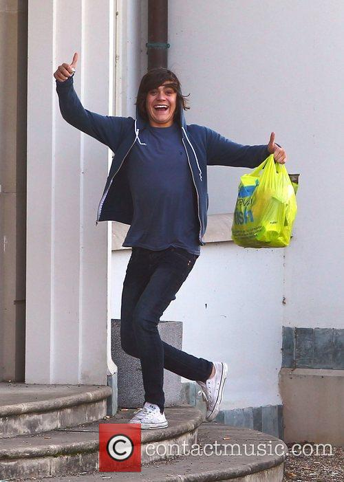 Frankie Cocozza  'X Factor' finalists outside the...