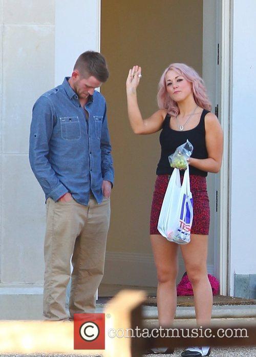 Jonjo Kerr, Kitty Brucknell 'X Factor' finalists outside...