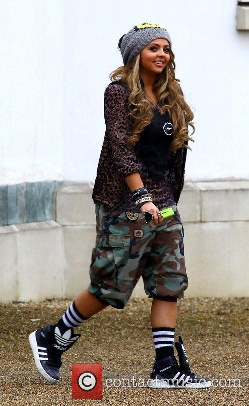 Jesy Nelson at the X Factor house England