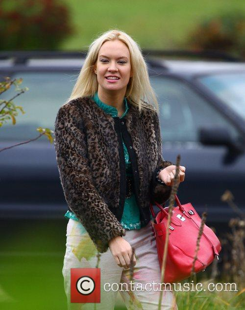 Kitty Brucknell at the X Factor house England
