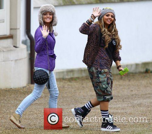 Perrie Edwards and Jesy Nelson at the X...