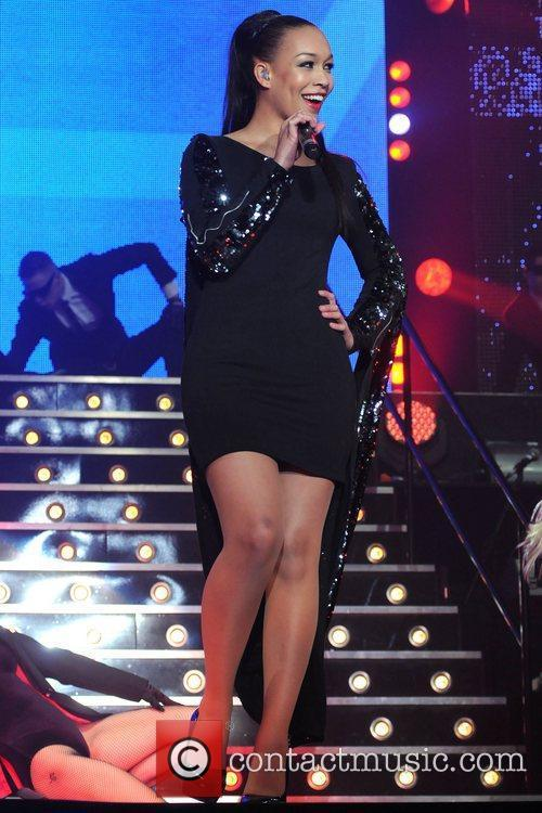 Performing On Stage At The X Factor Live...