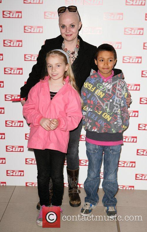 Gail Porter and Family meet and greet at...