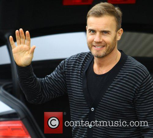 Gary Barlow arriving at the X Factor rehearsal...