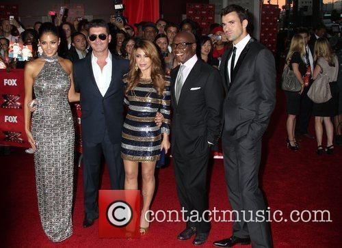 Nicole Scherzinger, Paula Abdul, Simon Cowell, Steve Jones and Arclight Theater 3