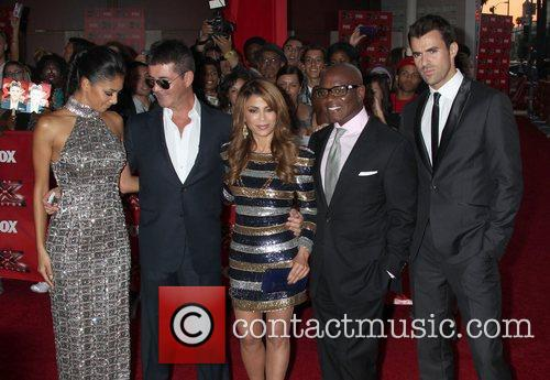 Nicole Scherzinger, Paula Abdul, Simon Cowell, Steve Jones and Arclight Theater 4