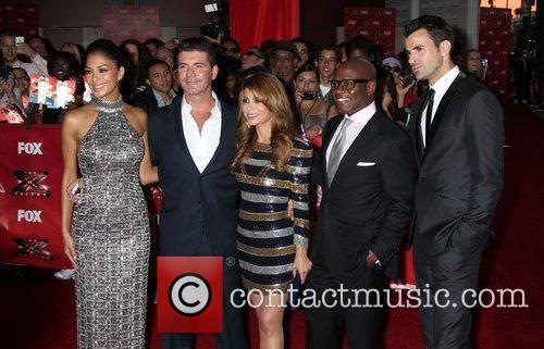 Nicole Scherzinger, Paula Abdul, Simon Cowell, Steve Jones and Arclight Theater 1
