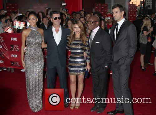 Nicole Scherzinger, Paula Abdul, Simon Cowell, Steve Jones and Arclight Theater 5