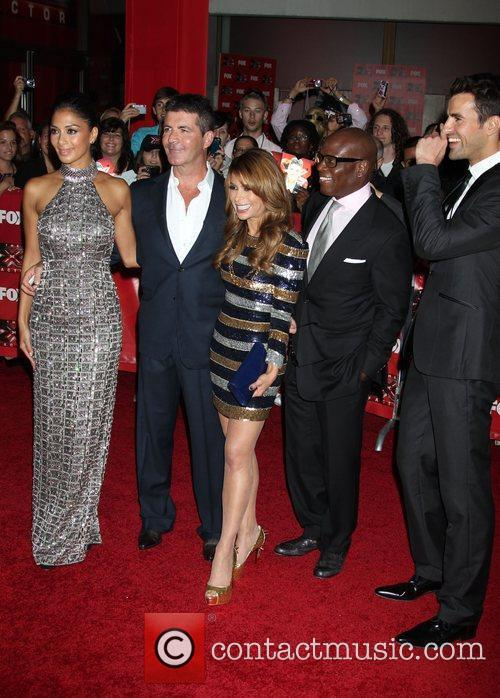 Nicole Scherzinger, Paula Abdul, Simon Cowell, Steve Jones and Arclight Theater 6