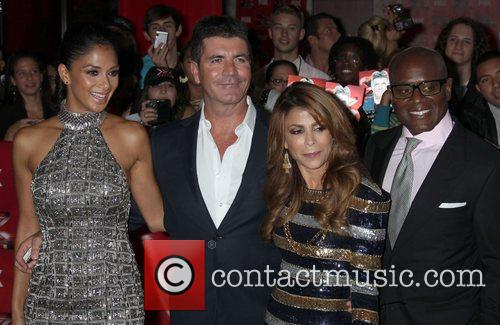 Nicole Scherzinger, Paula Abdul, Simon Cowell and Arclight Theater 10