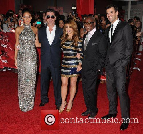 Nicole Scherzinger, Paula Abdul, Simon Cowell, Steve Jones and Arclight Theater 1