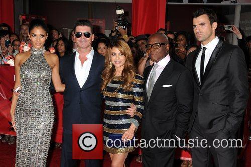 Nicole Scherzinger, Paula Abdul, Simon Cowell, Steve Jones and Arclight Theater 2