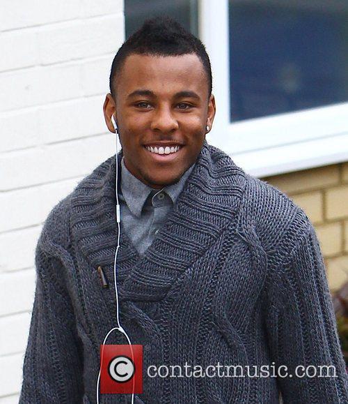 Ashford Campbell arrives at the 'X Factor' studios...