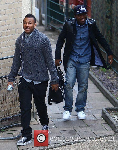Derry Mensah and Ashford Campbell arrives at the...